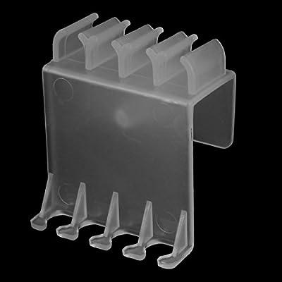 Sourcingmap® Aquarium Kunststoff Abfluss Zufluss Rohr Wasser Schlauchhalter Clip Klar de