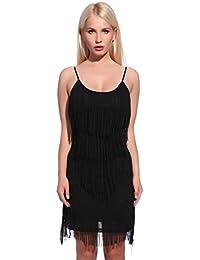 20er Fransenkleid Flapper Kleid Hochzeitkleid Club Latein Tanz kleid Partykleid Minikleid Cocktailkleid Charleston Kleid