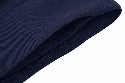 HonourSport-Legging Jupe 3/4 Skort Cordon de Serrage Latéral Réglable Skapri Jupe de Sport Femme Bleu Marine