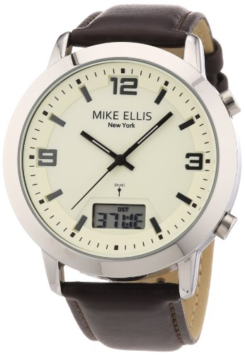 Mike Ellis New York Herren-Armbanduhr XS Analog - Digital Quarz Leder M2941ASU/1