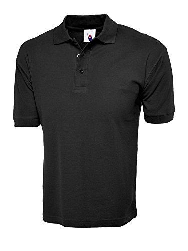 100% Baumwolle Shirt Short Sleeve Polo, Sport, Freizeit, Arbeit Workwear Uniform Black