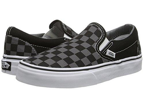 Vans Classic Slip On White Womens Trainers (8.5 B(M) US Women / 7 D(M) US Men, Black Pewter Grey Checkerboard) White Classic Slip On
