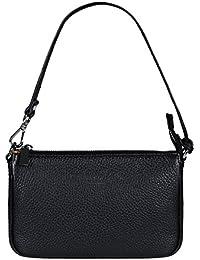 """FERDINAND SABAC Leder Handtasche Umhängetasche Schultertasche """"BARI"""" für Damen. Echte Italienische Kalbsleder Clutch - Abendtasche - Ledertasche. Schlicht - Modern - Minimalistisch."""