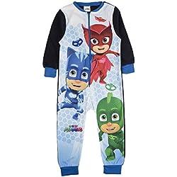 Pijama de Forro Polar para niños, diseño de Personaje de Onesie PJ Masks 1-5 Años