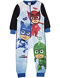 Boys Fleece Character Onesie Pyjamas Childrens All In One Pj's Size UK 1-10 Years