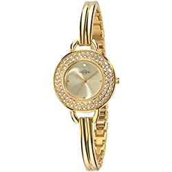 Chronostar Starlight Women's Quartz Watch with Gold Dial Analogue Display and Gold Strap R3753237502