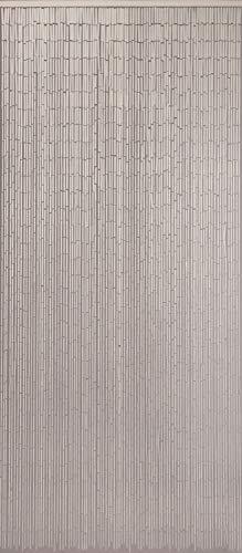 CONACORD Türvorhang Raumteiler Bambus Bambusvorhang Uni Weiß Fliegenvorhang Insektenschutz