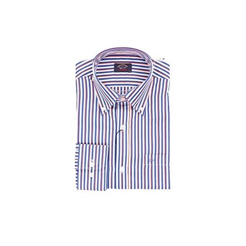 Paul & shark camicia uomo p18p3294073 cotone blu