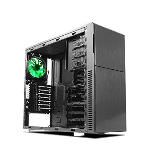 Nanoxia 600060300 Deep Silence 3, Schallgedämmter ATX Midi Tower, 3x 120 mm Deep Silence Lüfter, 2x USB 3.0, 1x USB 2.0, Schwarz