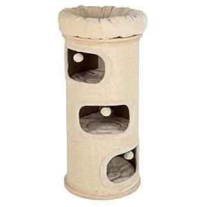 katzen kratztonne mit 4 schlafbereichen stoffart sisal xxl gr e haustier. Black Bedroom Furniture Sets. Home Design Ideas