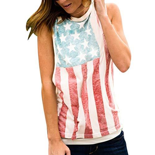 Subfamily Ärmellose patriotische Streifen der amerikanischen Mode Flaggen Druck - Patriotische Kostüme Für Kinder