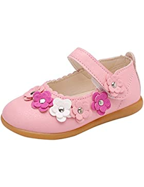 Minuya Mädchen Schuhe Säugling Baby Mädchen PU Leder Weiche Sohle Sommer Mary Jane Halbschuhe Lauflernschuhe Ballerinas