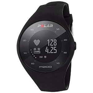 Polar M200 M200-Reloj de Carrera con GPS y frecuencia cardíaca en la muñeca, Color, Unisex Adulto, Negro, M/L