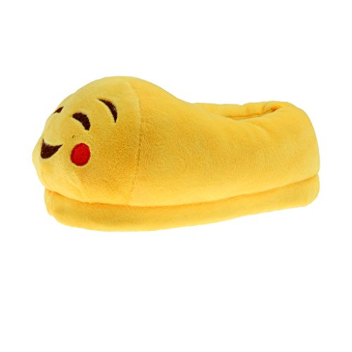 Phenovo Cute Smile Emoji Pantuflas Cozy Plush Slippers Anti-Slip Home Shoes 20 cm