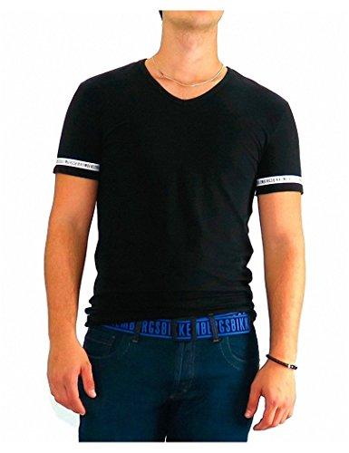 bikkembergs-tshirt-dirk-bikkembergs-black-one-stripe-xl-negro