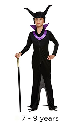 Kinder Halloween Maleficent Böse Königin Maskenkostüm 7 - 9 (Maleficent'für Halloween)