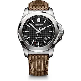 Victorinox Hombre I.N.O.X Mechanical – Reloj automático mecánico de Acero Inoxidable/Cuero de fabricación Suiza 241836