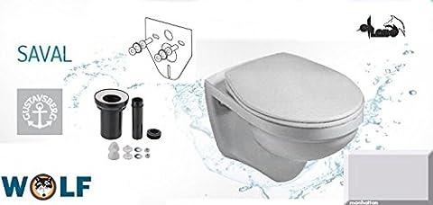 V&B Wand WC Tiefspüler Saval Farbe Manhattan, Gustavsberg AUSTAUSCH SET