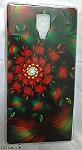 Soft Fancy Back Cover For Micromax Canvas Blaze 4G+ Q414 - Flower Print
