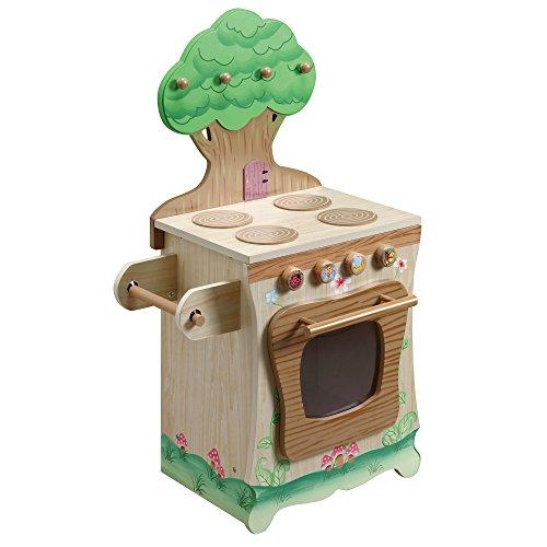 Cuisinière de jeu enfant Little Chef dinette verte en bois fille garçon W-9647A
