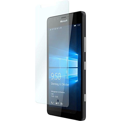 PhoneNatic 2 x Glas-Folie klar kompatibel mit Microsoft Lumia 950 - Panzerglas für Lumia 950