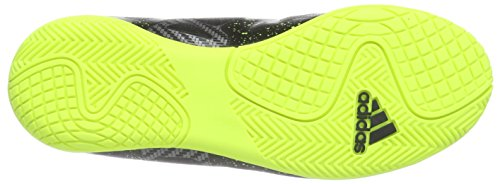 adidas X 15.4 IN  Indoor Unisex-Kinder Fußballschuhe Schwarz (Core Black/Solar Yellow/Night Met. F13)