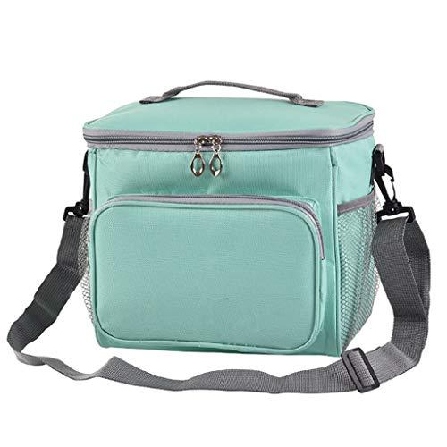 KonJin Lunch Tasche Lunchtasche Wasserdicht Leichte Picknicktasche Mittagessen Isoliertasche Thermotasche für Arbeit und Schule isolierte Mittagessen-Picknick-Kühltasche