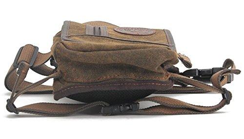 HopeEye Marsupio Running Cintura Borsa Gamba Retro Fashion Militare Robusta Lusso Casual Elegante Trekking Viaggio Sportiva Escursione OutdoorMarrone Marrone