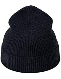 Yvelands Soldes Femme l hiver Style Simple Couleur Unie Garder Au Chaud  Bonnet Tricoté Chapeau a554f6227f5