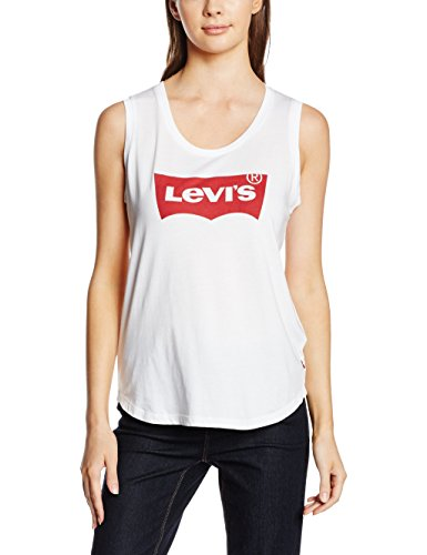 Levi's the muscle tank, t-shirt donna, bianco (festival tank white), large