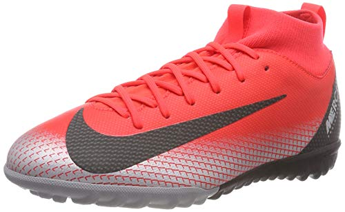 NIKE Unisex-Kinder Jr Sperfly 6 Academy Gs Cr7 Tf Fußballschuhe, Rot (BRT Crimson/Black/Chrome/Dk Grey 600), 37.5 EU
