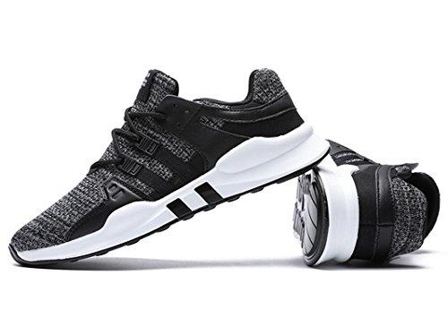 IIIIS-F Donna Scarpe da Ginnastica Corsa Sportive Running Sneakers Fitness Interior Casual all'Aperto grigio bianco