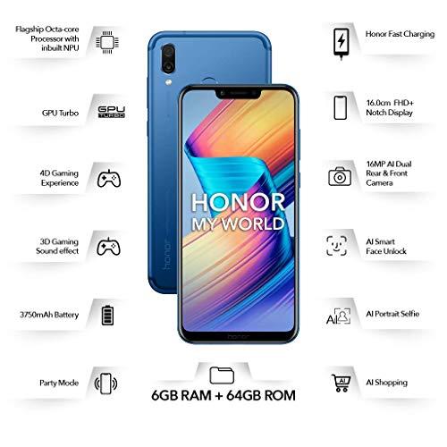 Honor Play (Navy Blue, 6GB RAM, 64GB Storage)