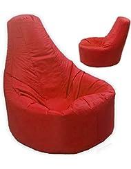 Grande pouf per gamer, reclinabile per esterni e interni, da gioco, XXL, rosso - resiste all'acqua e agli agenti atmosferici