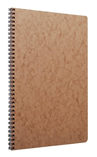 Clairefontaine 781422C Spiralbuch (DIN A4, 21 x 29,7 cm, Age Bag kariert, 50 Blatt) 1 Stück braun