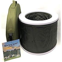 Bivvy Loo - Camping Toilette - portable toilette - camping wc toilette - zusammenklappbar - Unterstützt über 23 Stein
