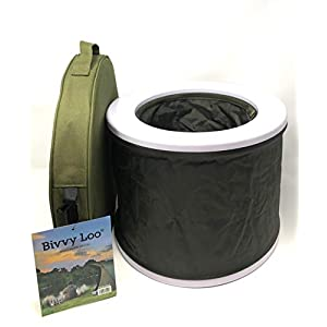 Bivvy Loo – Camping Toilette – portable toilette – camping wc toilette – zusammenklappbar – Unterstützt über 23 Stein