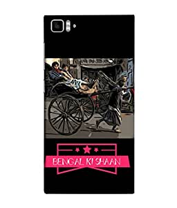 Fuson Designer Back Case Cover for Xiaomi Mi3 :: Xiaomi Mi 3 (Bengal ki Shaan Rickshaw Puller )