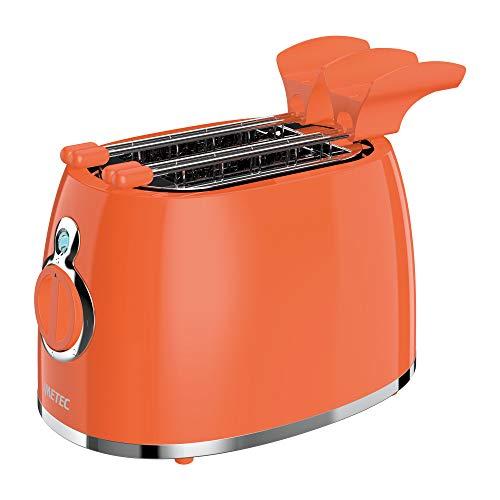 Imetec TS11 500 Tostapane, 5 Livelli di Doratura, 2 Pinze Inox, Timer con Autospegnimento, Indicatore Luminoso, Cassetto Raccogli-briciole, 500 W, Arancione