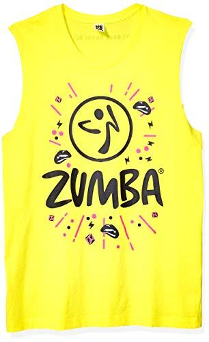 Zumba Unisex-Erwachsene Workout Tank with Fashion Print Top, Mell-oh Yellow, Medium/Large