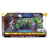 DC UNIVERSE INFINITE HEROES BATTLE FOR METROPOLIS: 8 PACK mit Shazam - Captain Atom - Lex Luthor - Superman - 4X Lexcorp Troopers