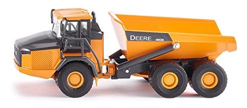 SIKU 3506, John Deere Dumper, Baustellenfahrzeug, 1:50, Metall/Kunststoff, Orange, Kippbare Mulde - 50 Deere-1 John