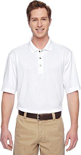 HARRITON Herren Vorteil IL Snap Knopfleiste Performance Polo (M345) Weiß - Weiß