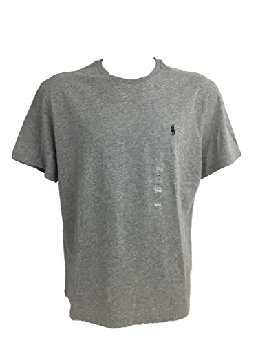 Polo Herren Ralph Lauren Classic T-Shirt, Grau Mittel - Ralph Lauren-gerippte Jersey
