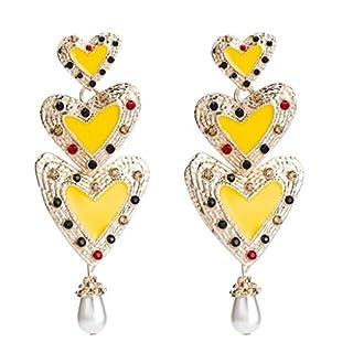 YHH Übertriebene Ohrringe, Mehrschichtige Diamanten-verkrustete Ohrringe, Böhmische Ohrringe (Farbe : 5)