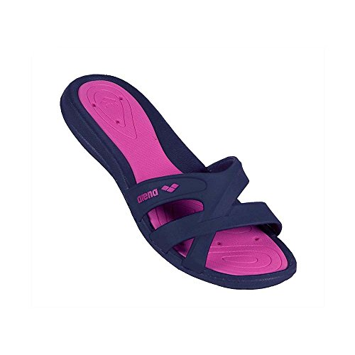 ARENA - CIABATTA DONNA - ATHENA WOMAN HOOK - DENIM, FUCSIA - 8068079 - ITA/FRA/D/NL 37 - USA 5 - UK 4 - AUS 5