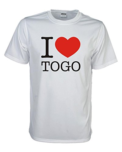 T-Shirt I love TOGO, bedrucktes Länder Fanshirt, Ich liebe .. Loveshirt Liebesbeweis für dein Heimatland, große Größen S-5XL (WMS11-64) Mehrfarbig