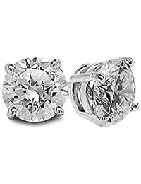 Diamond Studs Forever - Ohrstecker mit 5/8 ct. Diamanten GH/SI2-I1 - Weißgold 14 Karat