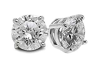 Diamond Studs Forever – Ohrstecker mit 5/8 ct. Diamanten GH/I1-I2 – Weißgold 14 Karat