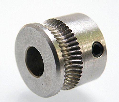 2x-3d-printer-mk7-drive-gear-extruder-pulley-5mm-shaft-bore-for-175mm-filament-reprap-makerbot